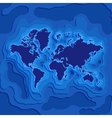 Map with continents and mainlands among oceans vector image