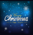 marry christmas blue background vector image