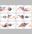 minimal brochure templates with colorful cubes vector image