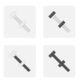 monochrome icon set with screws and nails vector image vector image