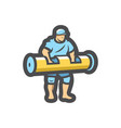 muscle man bodybuilder strongman icon vector image