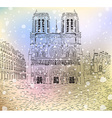 Notre Dame De Paris Sketch vector image