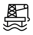 offshore ecology icon with outline style vector image