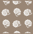 pattern with hand drawn seashell vector image