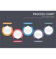 Process Chart vector image vector image