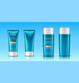 realistic 3d tubes with sunscreen cream vector image vector image