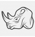 Rhino symbol logo vector image vector image