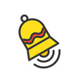 ringing bell merry christmas related icon set