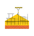 scaffold and bricks vector image vector image