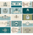 sea cards vector image vector image