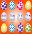 Set of Easter eggs 01 vector image vector image