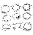 set of empty comic bubbles vector image