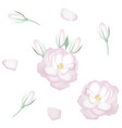 set of realistic white roses petals and buds vector image vector image