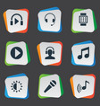 set of simple multimedia icons vector image vector image