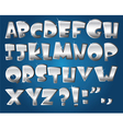 silver alphabet vector image vector image