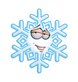 SnowFlake Emoticon Romantic vector image vector image