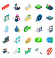 society icons set isometric style vector image vector image
