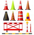 traffic cones drums and posts vector image vector image