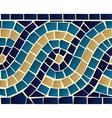 Wave mosaic seamless pattern vector image vector image