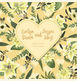 wedding floral invitation valentine card vector image vector image
