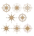wind rose icons in vintage style vector image