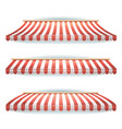 striped awnings set vector image