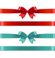color bows set vector image