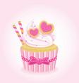 sweet love cupcake vector image