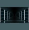 3d futuristic modern hallway dark corridor garage vector image vector image