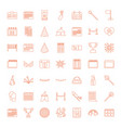 49 event icons vector image vector image