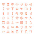 49 textile icons vector image vector image