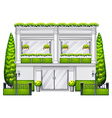 A commercial building with plants vector image vector image