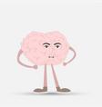 a human brain of pink color inspiration cartoon vector image