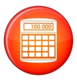 An electronic calculator icon flat style vector image vector image