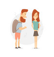 arguing with a woman young couple quarrel vector image