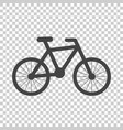 bike silhouette icon on isolated background vector image vector image