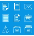 Blueprint icon set Paper 2 vector image vector image
