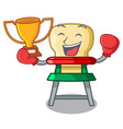 boxing winner baby highchair isolated on the vector image vector image