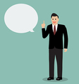 Businessman talking vector image vector image