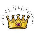 cartoon doodle crown vector image vector image