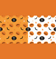 cartoon pumpkins halloween pattern background vector image vector image