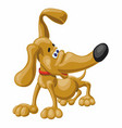 cartoon smiling funny dachshund puppy vector image vector image