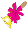 color image of the festive bell vector image
