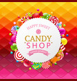 colorful background with candy banner vector image vector image