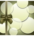Cover of the present box green background vector image