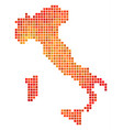 dot orange italy map vector image vector image
