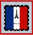 Eiffel Tower n the France Flag vector image