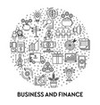 finance and business profit earning and vector image