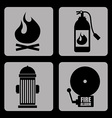 fire signals vector image