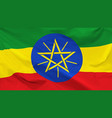 flag ethiopia vector image vector image